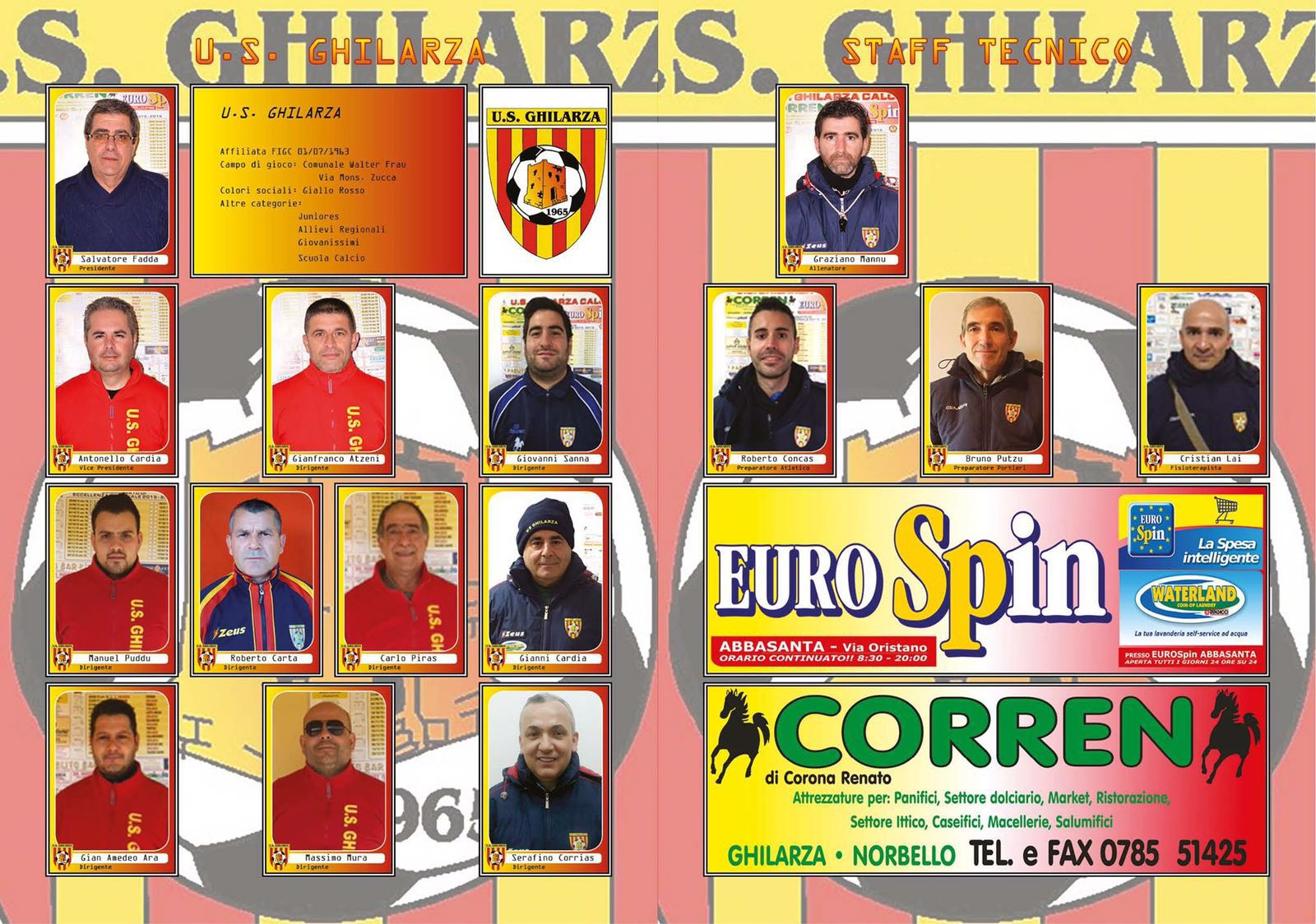 Album figurine Ghilarza Calcio dirigenti