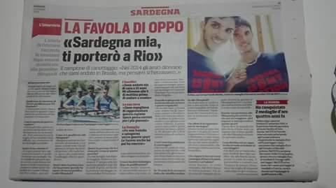 CANOTAGGIO: STEFANO OPPO SI PREPARA PER LE OLIMPIADI DI RIO E INTANTO CONQUISTA LE PAGINE DEL CORRIERE SPORT