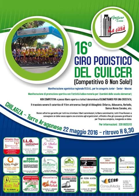Locandina Giro Podistico del Guilcer 22-05-2016