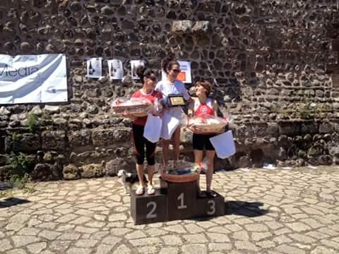 Podio femminile giro podistico guilcer 2016