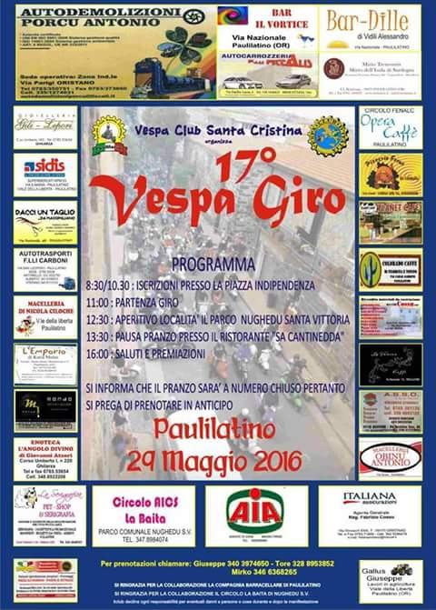 Locandina Vespa Giro paulilatino