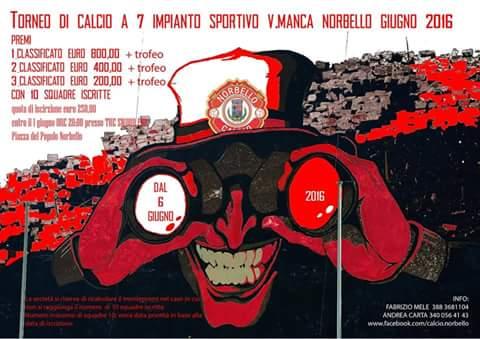 CALCIO A 7 : INIZIA IL 6 GIUGNO L'IMPORTANTE TORNEO ORGANIZZATO DALL'UPD NORBELLO