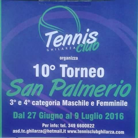 10^ TORNEO REGIONALE SAN PALMERIO DI TENNIS A GHILARZA: LUNEDÌ 27 GIUGNO SI PARTE