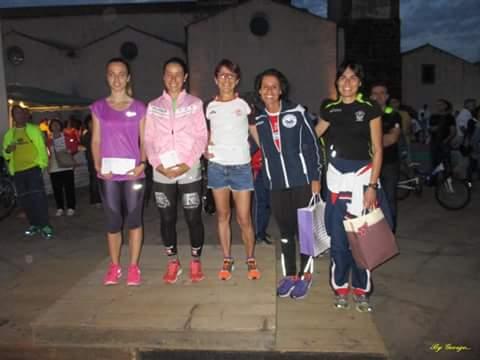 GAra podistica Sedilo podio femminile