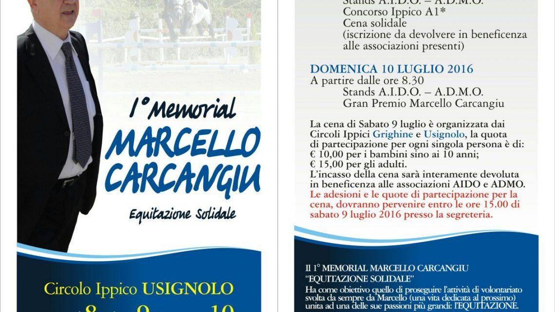 """SPORT…OLTRE IL GUILCER: """"1^ MEMORIAL MARCELLO CARCANGIU""""DI EQUITAZIONE SOLIDALE A SANTA GIUSTA"""
