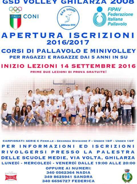 Pallavolo: dal 14 Settembre al via l'attività giovanile del Gsd Volley Ghilarza 2008