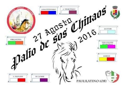 """Paulilatino, 27 agosto: Iniziato il conto alla rovescia per il """"Palio de Sos Chinaos"""" 2016"""