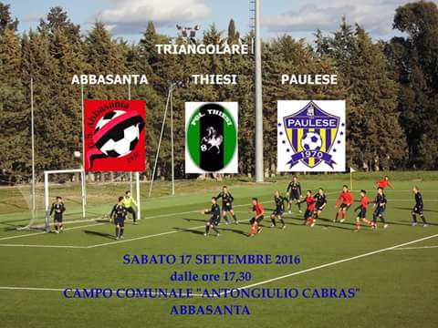 Calcio: Il 17 settembre triangolare Abbasanta, Paulese e Thiesi