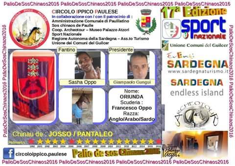 In un Palio mozzafiato, vince a Paulilatino su Chinau de Josso/ Pantaleo con il fantino Sasha Oppo