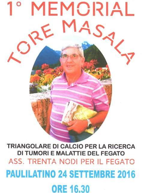 Paulilatino, memorial Tore Masala rinviato per la pioggia, ma la famiglia ringrazia tutti