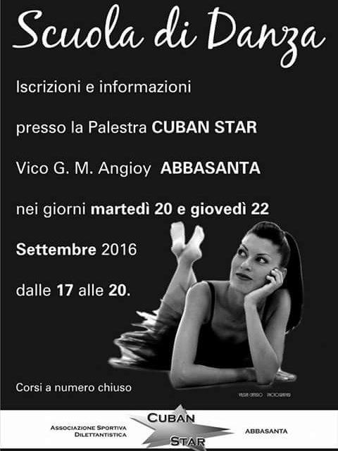 Danza Sportiva alla Cuban Star di Abbasanta: iscrizioni 20 e 22 Settembre