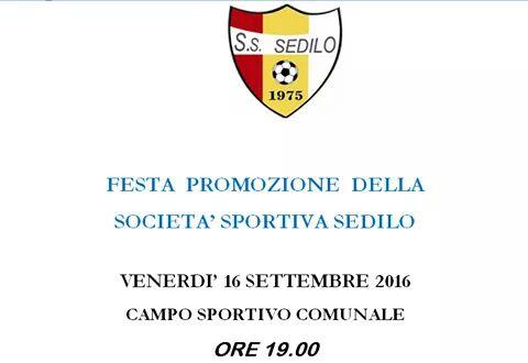 Calcio Prima Categoria: il 16 Settembre a Sedilo festa promozione e presentazione ufficiale della squadra