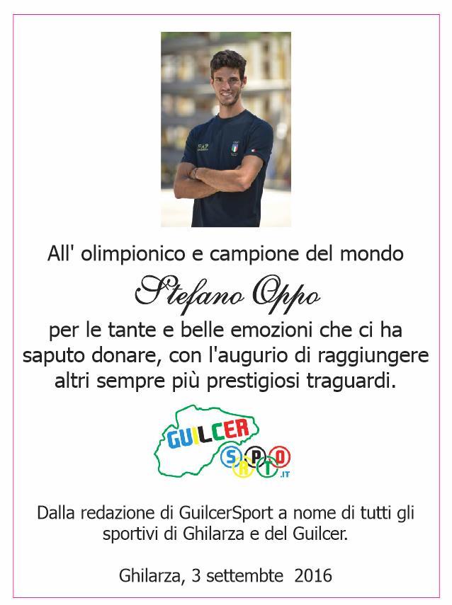 Targa premiazione guilcer sport Stefano Oppo