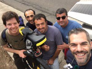 Nella foto, Matthias Meister, Alberto Cualbu, Massimiliano Deriu, Salvatore deriu e Simone Carrucciu