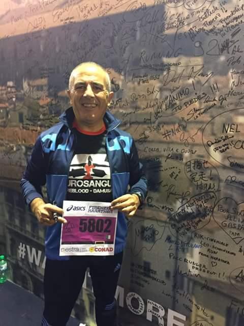 """Dal diabete… alla maratona di Firenze. L' """"esempio"""" del bauladese Carmine Corriga"""