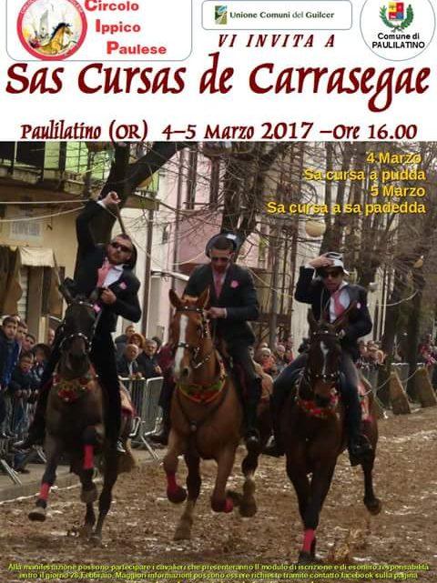 Anche quest'anno nel Guilcer le spettacolari pariglie del carnevale a cavallo