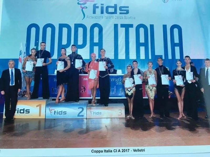 Danza Sportiva. Andrea Erdas e Alessia Carta della Cuban Star vincono la 2a Coppa Italia Nazionale della youth classe A