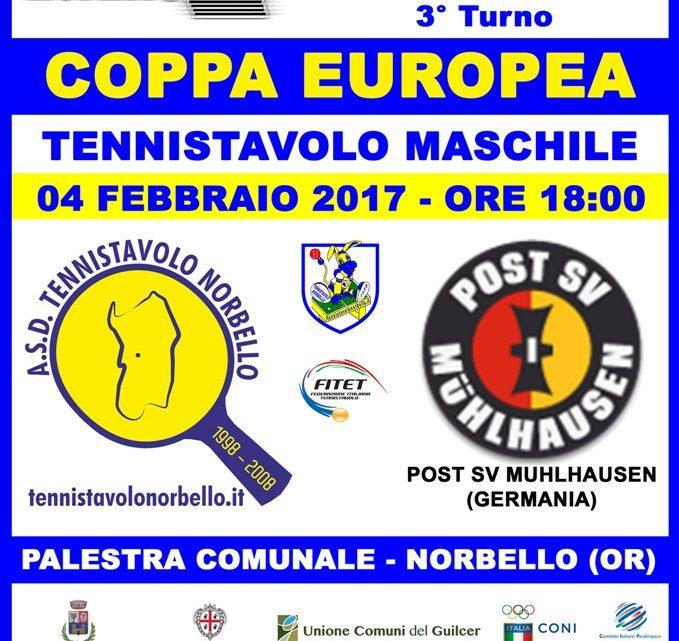 """Tennistavolo Norbello. Coppa Europea, la pluridetentrice della """"TT InterCup"""" arriva a Norbello."""