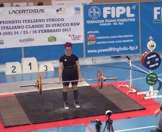 """Pesistica. La norbellese Rita Cau del Guilcier Team La Città, Campionessa Italiana di """"Power Lifting"""""""