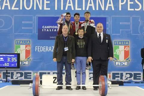 ESCLUSIVO PESI.Sergio Massidda Campione Italiano Under 17 Kg 50 a Camaiore