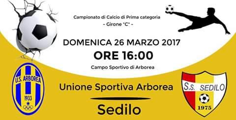 Calcio 1a Categoria Girone C. Un Sedilo in piena emergenza non resiste alla furia dell'Arborea: 5-1