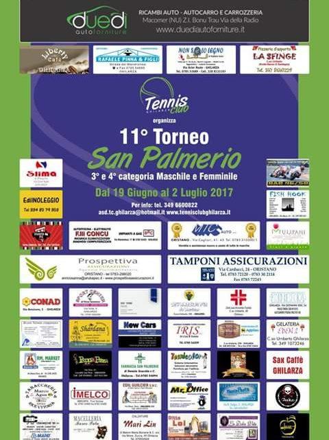 Tennis. Al via il 19 Giugno l'11a edizione del Torneo San Palmerio organizzato dal T.C. Ghilarza