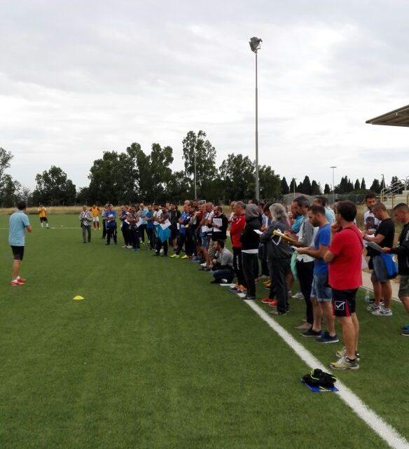 """75 allenatori dell'AIAC di Oristano a """"lezione"""" da mister Diego Lopez"""