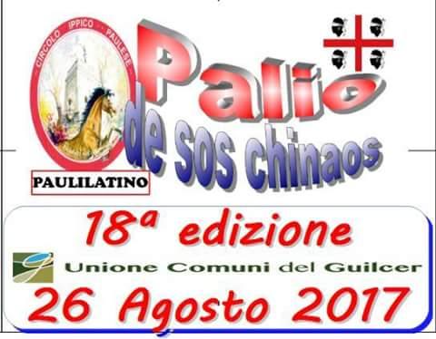 """Paulilatino, sabato 26 Agosto: è il gran giorno del """"Palio de Sos Chinaos"""" 2017"""
