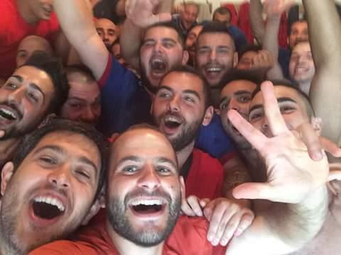 I selfie di Guilcersport. La grande festa dei giocatori dell'Aidomaggiorese dopo la vittoria di ieri contro il Macomer