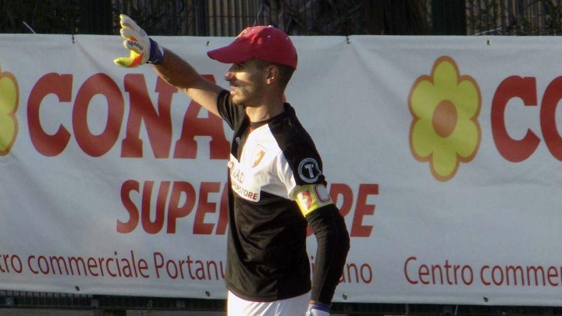 Calcio Promozione B. La schedina di Riccardo Mele saracinesca e capitano della Tharros