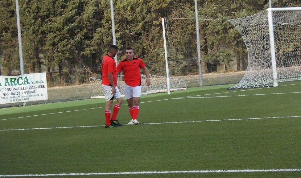 Calcio 1a Categoria C. Quaterna dell'Abbasanta all'Aritzo. Festeggiano Calvia ( tripletta) e Floris per il compleanno