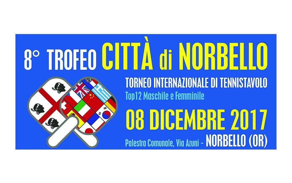 """Tennistavolo. 8° Trofeo """"Città di Norbello"""" – 08 dicembre 2017"""