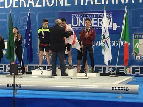Pesistica. Sergio Massidda campione italiano Under 17 kg 56