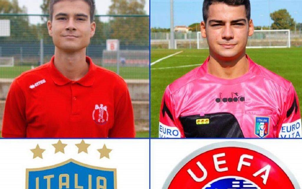 Gli arbitri di çalcio oristanesi Capotosto e Mattu selezionati per un progetto UEFA