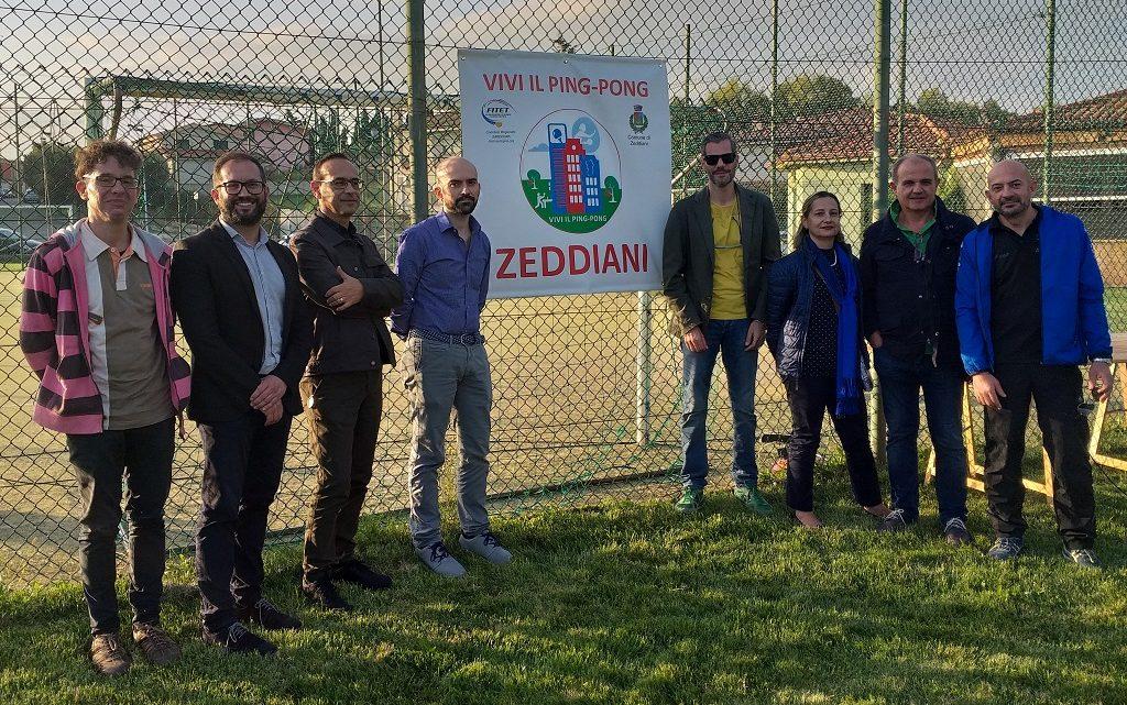 """Grande entusiasmo a Zeddiani per il progetto"""" Vivi il Ping Pong"""""""