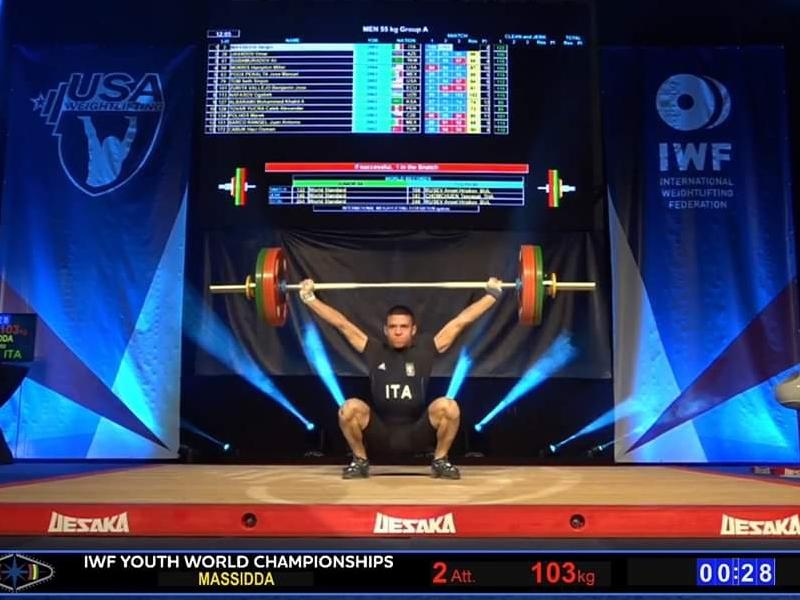 Ultimora pesi. Oro mondiale per Sergio Massidda