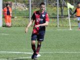 Il centrocampista di Nuraxinieddu Matteo Cossu in partenza per il ritiro del Cagliari Primavera