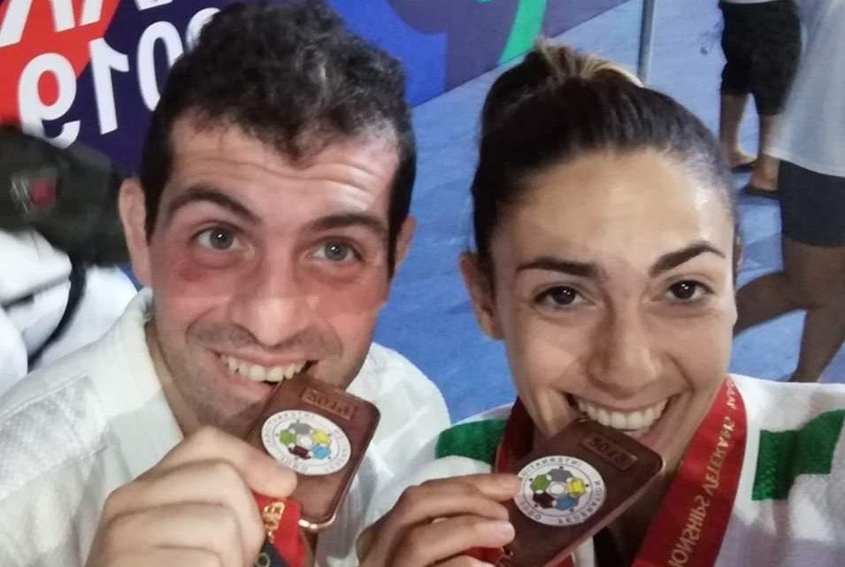 Medaglie di bronzo mondiali per Grazietta Saiu e Davide Ticca dello Judo Center Sedilo