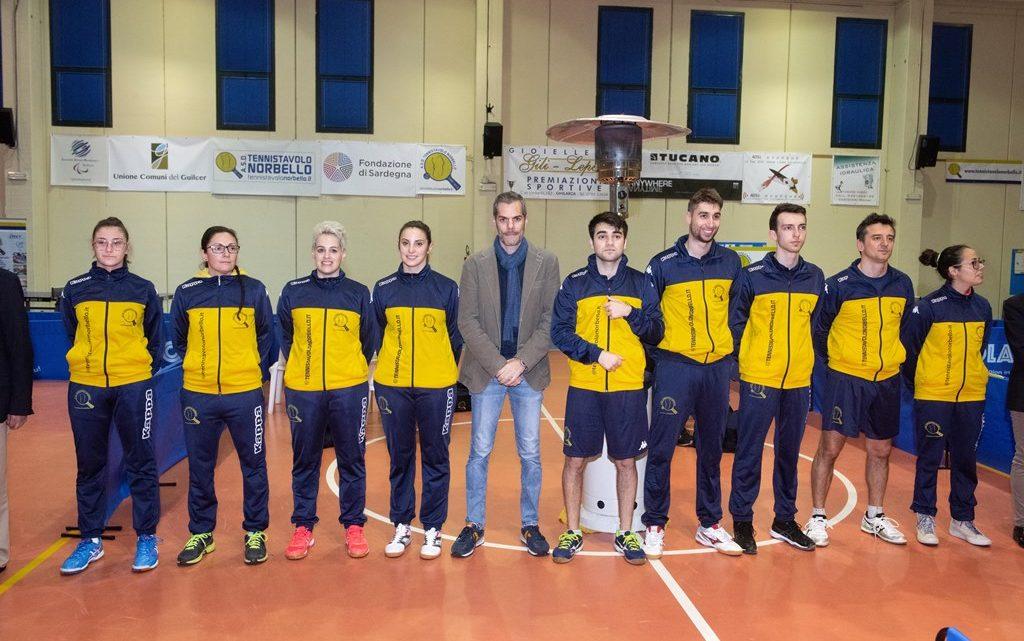 Il Tennistavolo Norbello si qualifica con le tre squadre di serie A alla Coppa Italia 2020