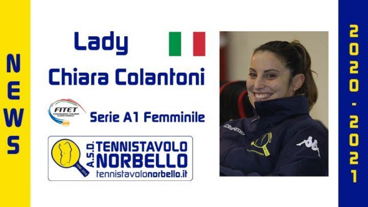 Il Tennistavolo Norbello in A1 conferma Chiara Colantoni anche per la stagione 2020/21