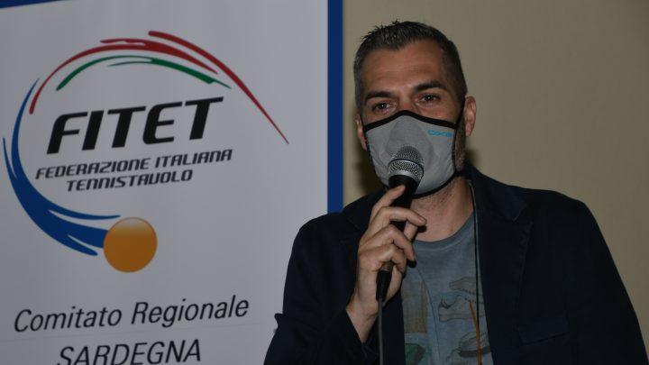 Simone Carrucciu confermato alla guida della FITeT Sardegna per il quadriennio 2021/2024