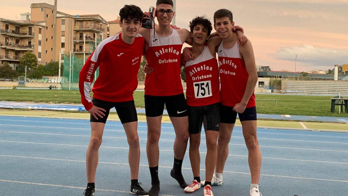 ATLETICA/ La staffetta 4X100 Allievi dell'Atletica Oristano si qualifica ai Campionati Italiani
