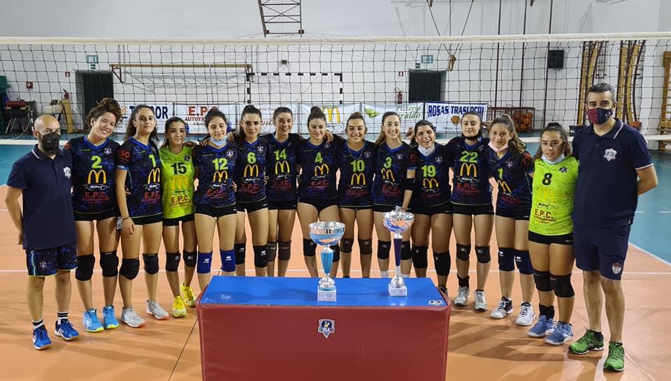 TRIPLETE GYMLAND/ Le oristanesi sul podio più alto nei tornei provinciali Under 15 -17- 19 femminili di volley