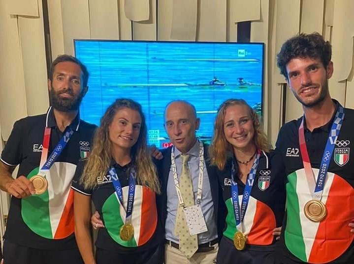 Al campione olimpico Stefano Oppo i complimenti dell'Ambasciatore d'Italia in Giappone Giorgio Starace
