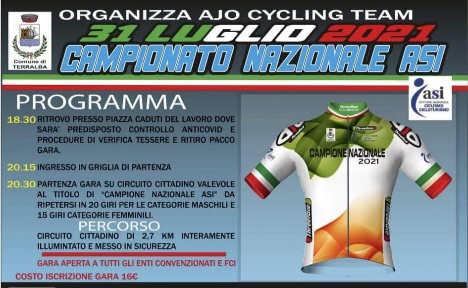 """1° TROFEO """"AJO CITTA' DI TERRALBA"""" / Importante e atteso evento ciclistico nazionale domani in notturnaa partire dalle 20.30"""