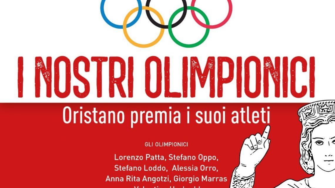 'I NOSTRI OLIMPIONICI'/  Mercoledì 25 agosto ad Oristano (campo Tharros ore 21) le premiazioni di Stefano Oppo, Lorenzo Patta e Stefano Loddo