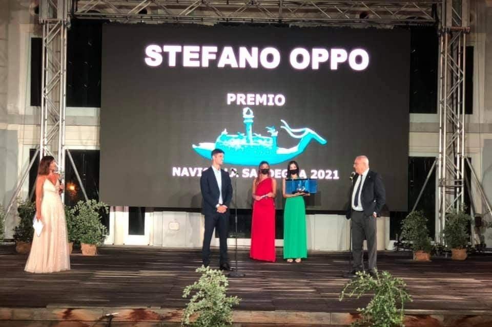 L'olimpionico Stefano Oppo consacrato ieri a Porto Rotondo tra le eccellenze sarde con il Premio Navicella 2021