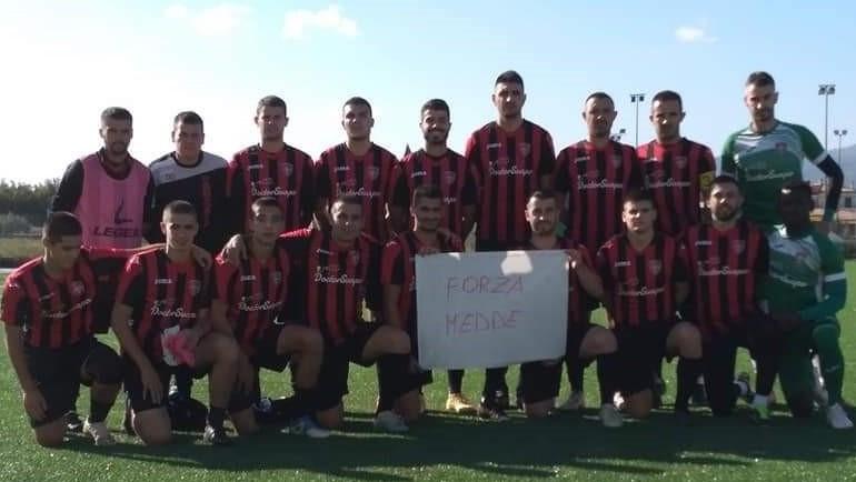 FORZA FRANCESCO MEDDE !/ L'Abbasanta dedica il prezioso pareggio di Torpè ed il primato in classifica al giovane attaccante coinvolto in un incidente